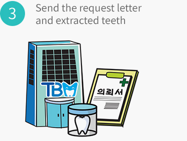 Send the request letter and extracted teeth